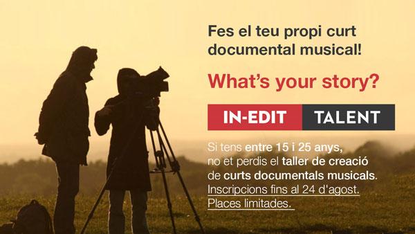Fes el teu propi documental musical. Convocatòria oberta
